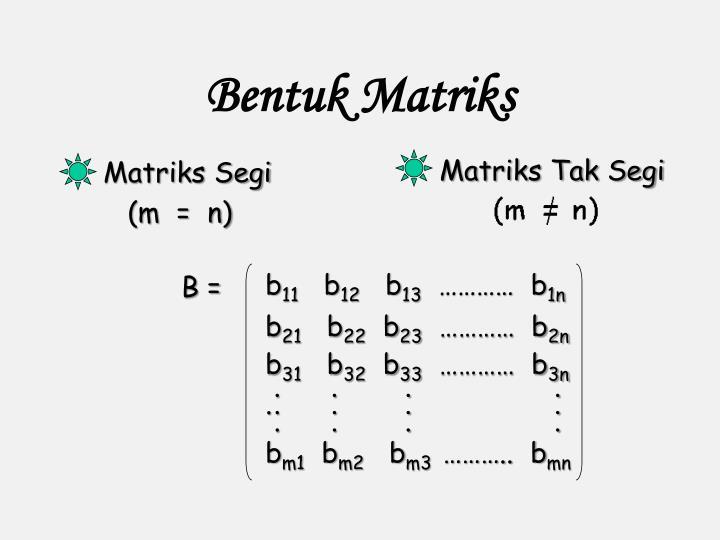Bentuk Matriks