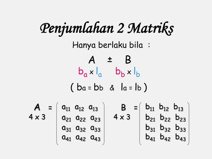 Penjumlahan 2 Matriks