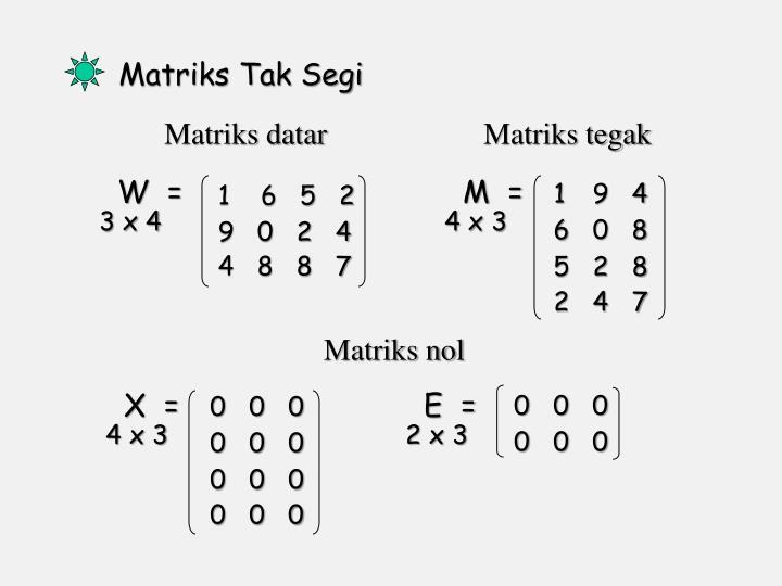 Matriks datar