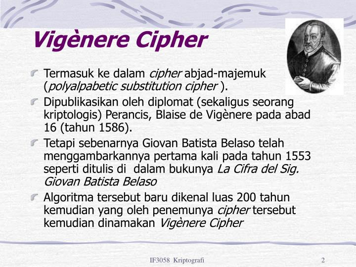 Vigènere Cipher