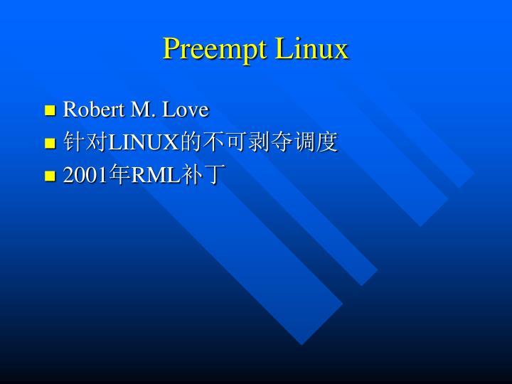 Preempt Linux