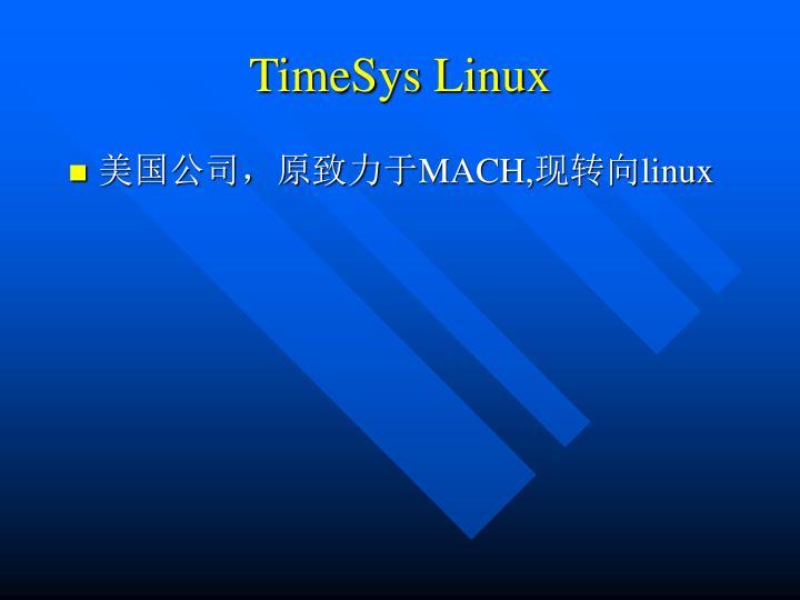 TimeSys Linux