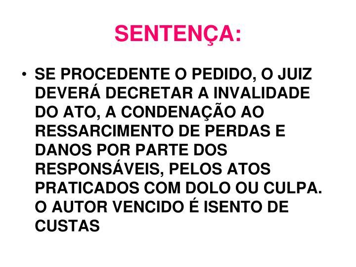SENTENÇA: