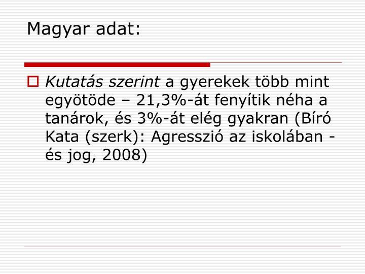 Magyar adat: