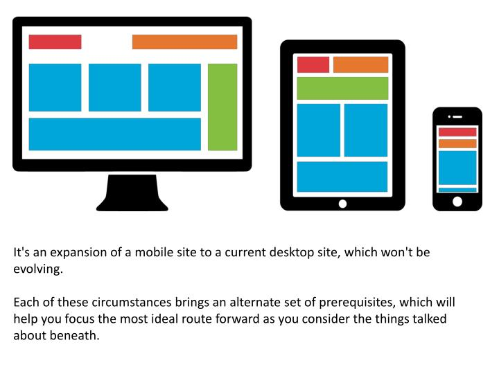 It's an expansion of a mobile site to a current desktop site, which won't be evolving.