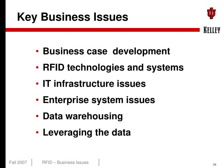 Key Business Issues