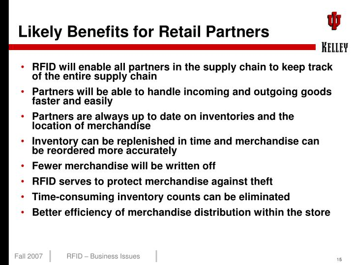 Likely Benefits for Retail Partners