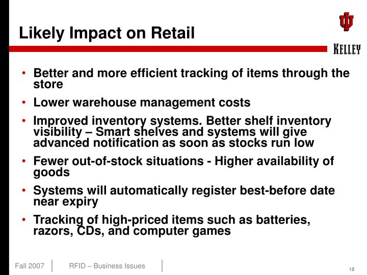 Likely Impact on Retail