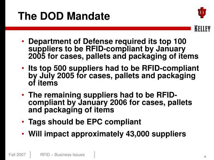 The DOD Mandate