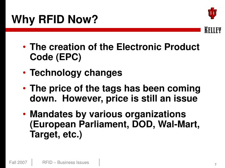 Why RFID Now?