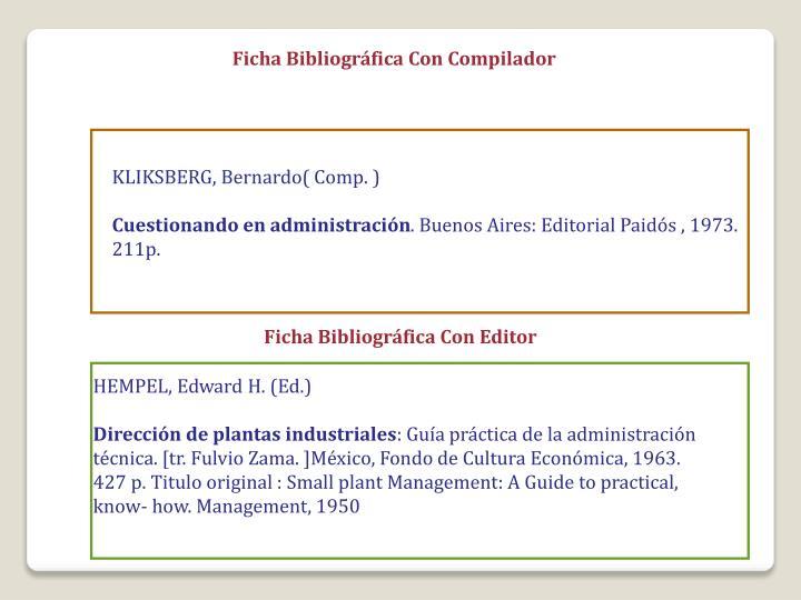 Ficha Bibliográfica Con Compilador