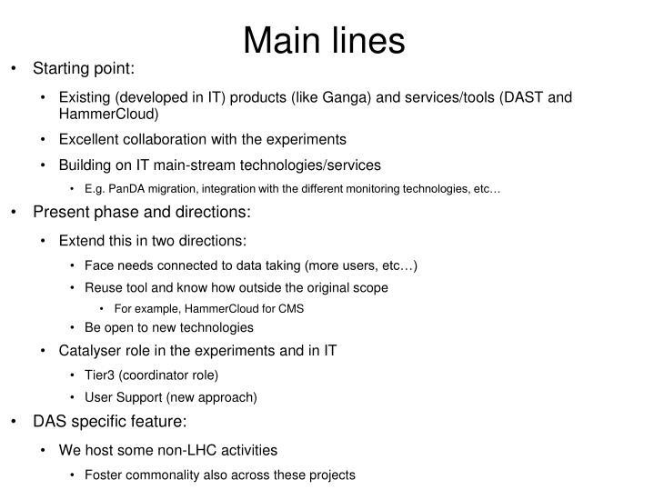 Main lines