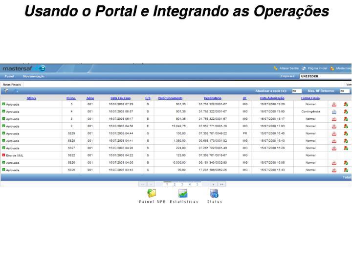 Usando o Portal e Integrando as Operações