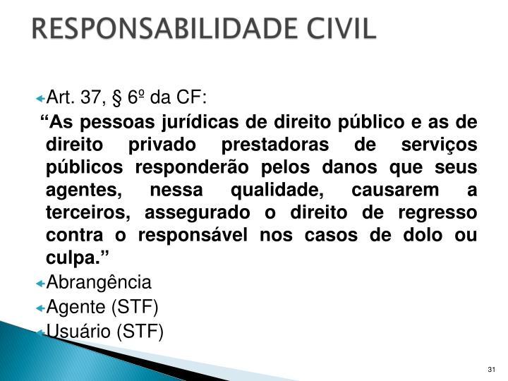 Art. 37, § 6º da CF: