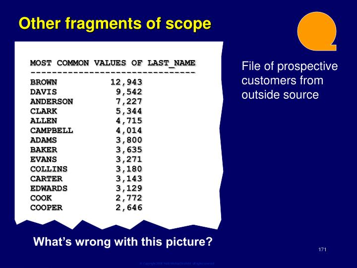 Other fragments of scope