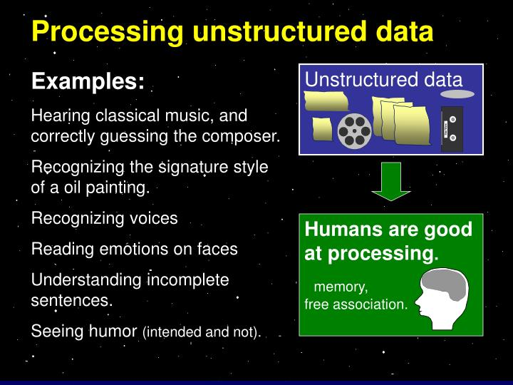 Processing unstructured data