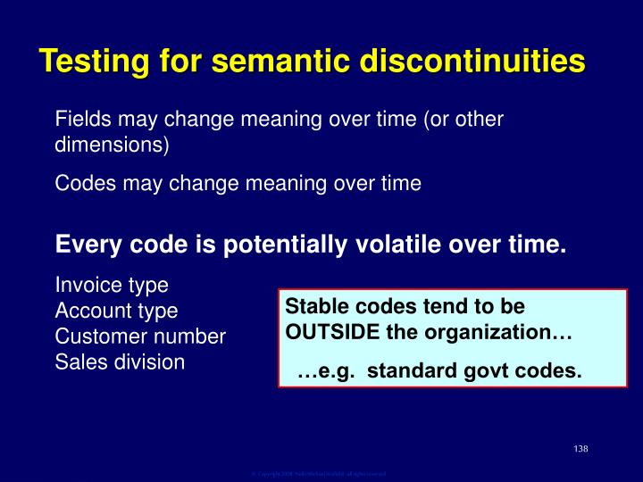 Testing for semantic discontinuities