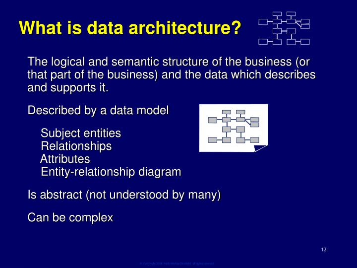 What is data architecture?