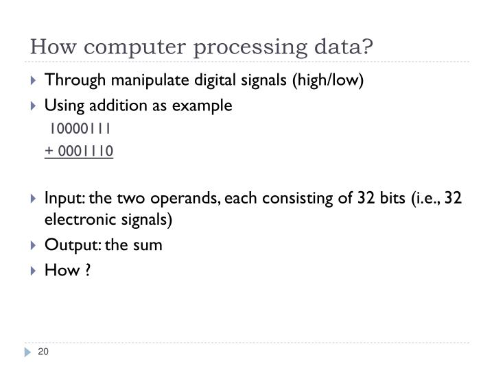 How computer processing data?
