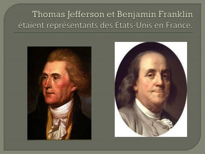 Thomas Jefferson et Benjamin Franklin