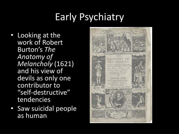 Early Psychiatry