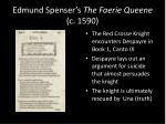 edmund spenser s the faerie queene c 1590