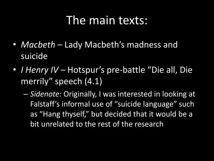 The main texts: