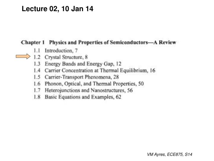 Lecture 02, 10 Jan 14