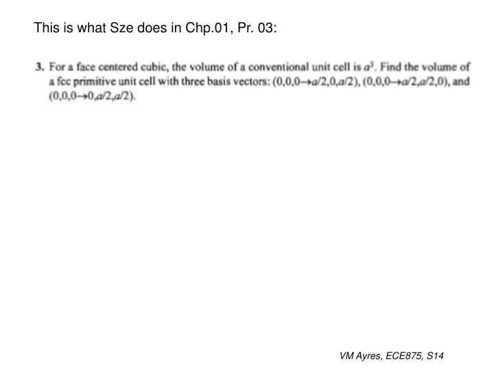 This is what Sze does in Chp.01, Pr. 03: