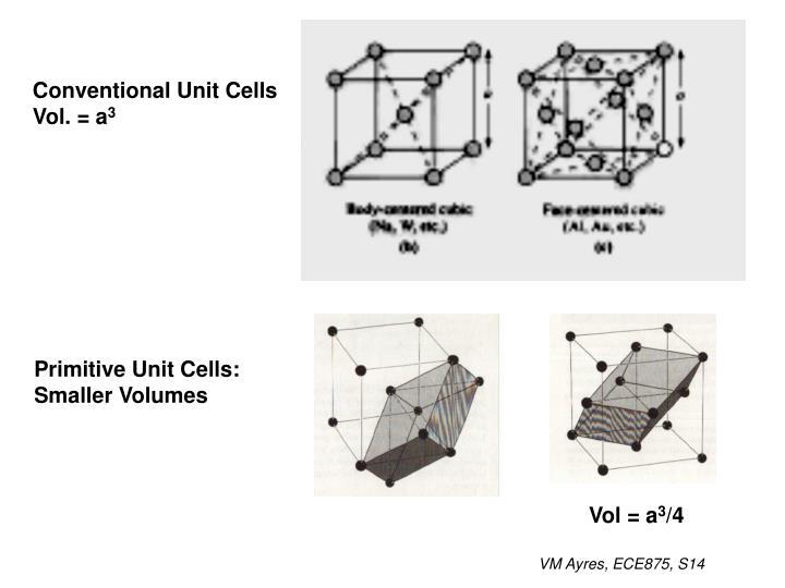 Conventional Unit Cells