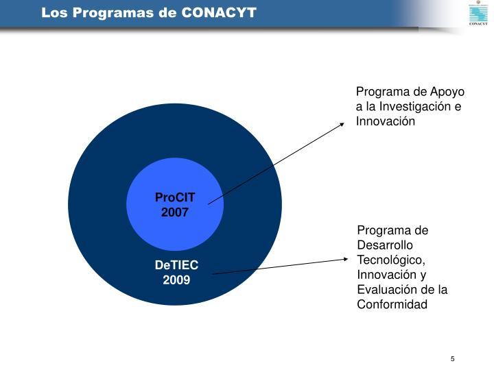 Los Programas de CONACYT
