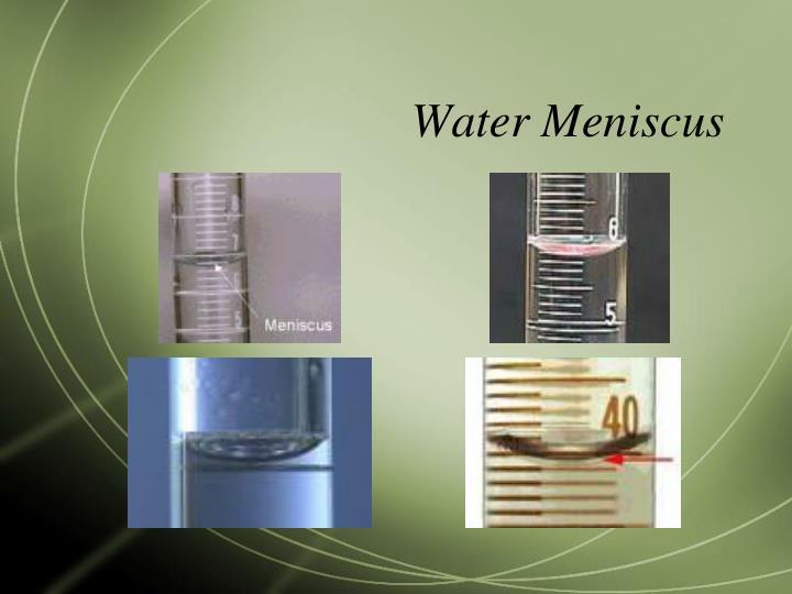 Water Meniscus