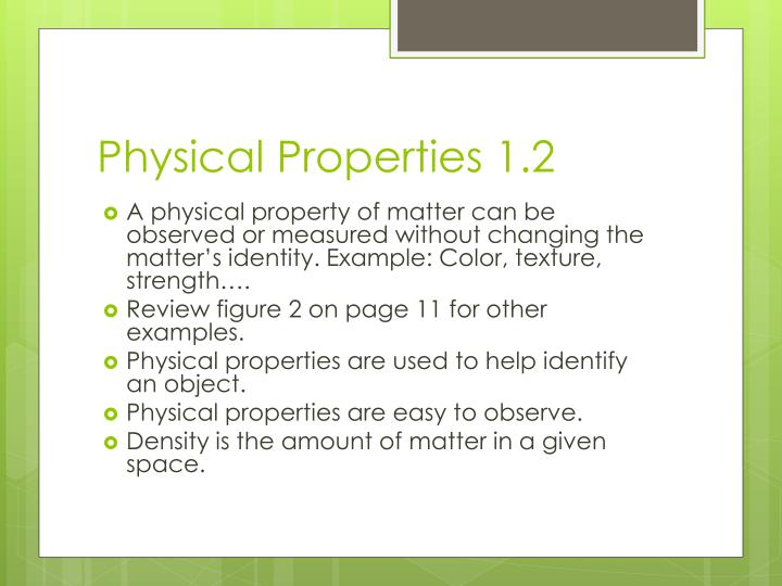 Physical Properties 1.2