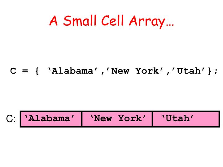 A small cell array