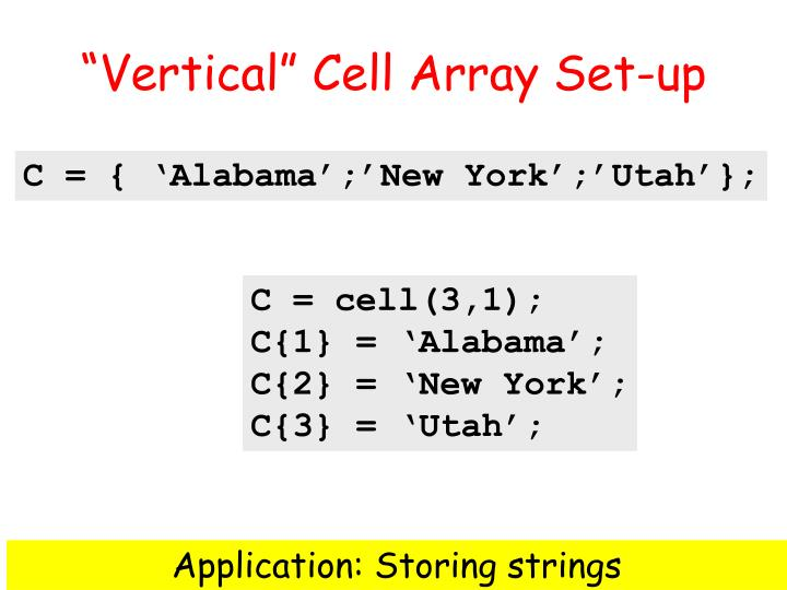"""Vertical"" Cell Array Set-up"