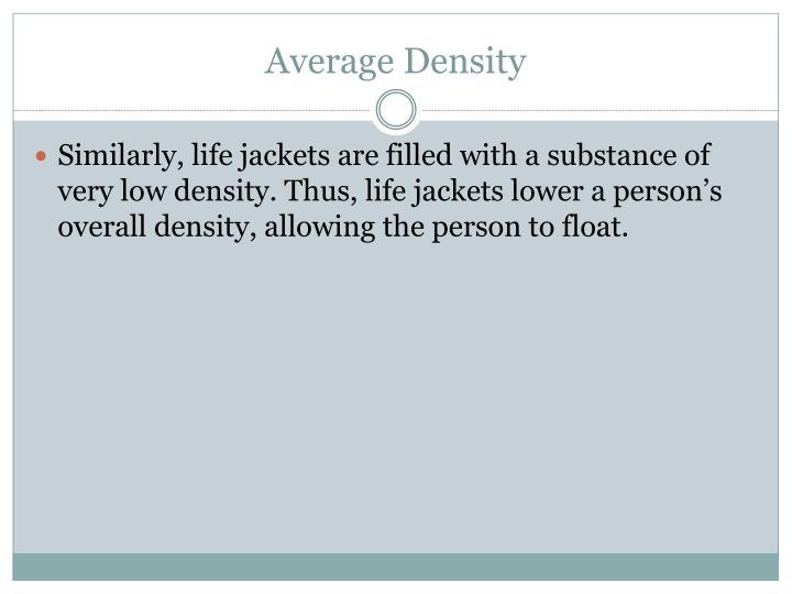 Average Density