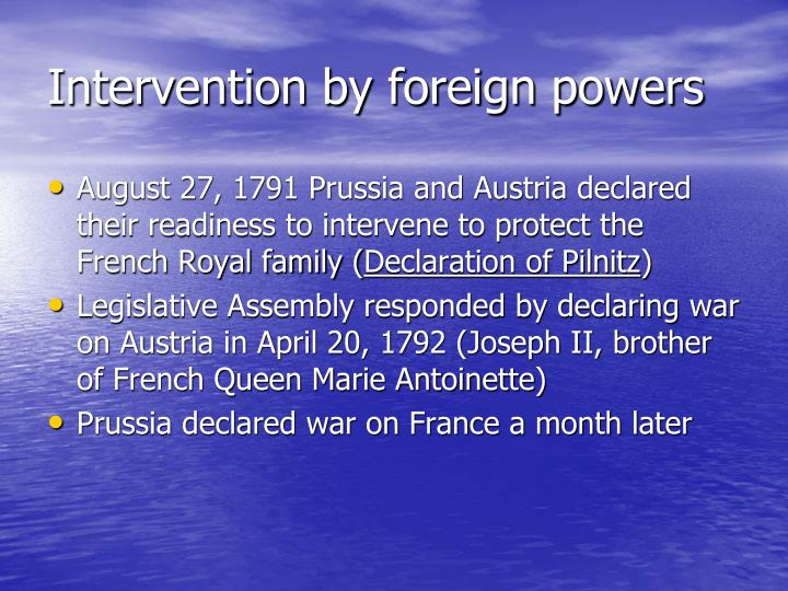 Intervention by foreign powers