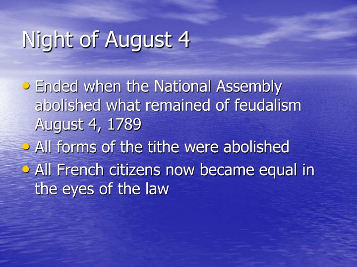 Night of August 4