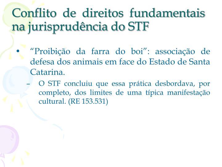 Conflito de direitos fundamentais na jurisprudência do STF