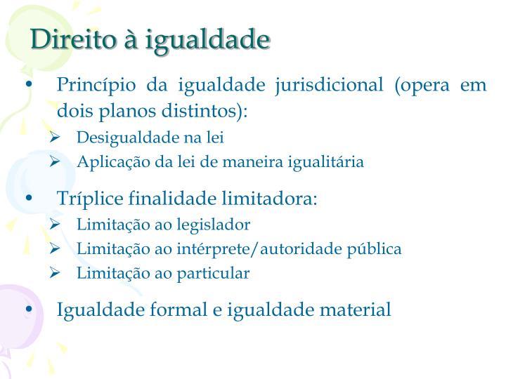 Direito à igualdade