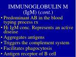 immunoglobulin m igm cont