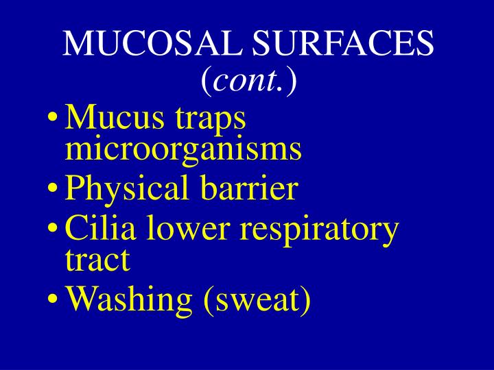 MUCOSAL SURFACES (