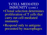 t cell mediated immunity cont1