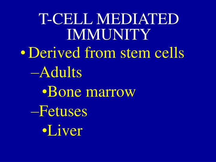 T-CELL MEDIATED IMMUNITY