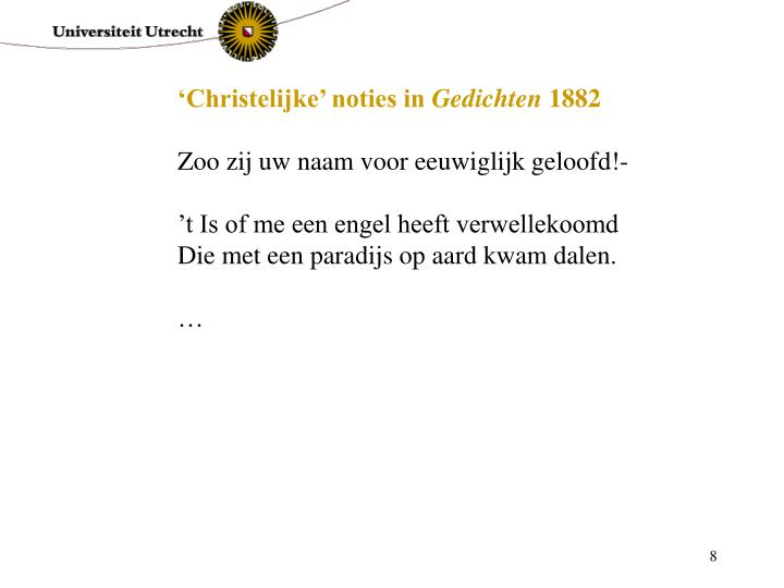 'Christelijke' noties in