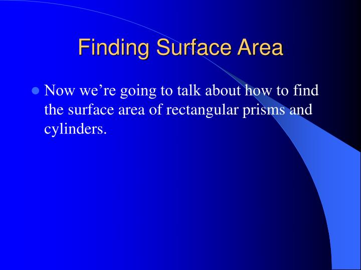 Finding Surface Area