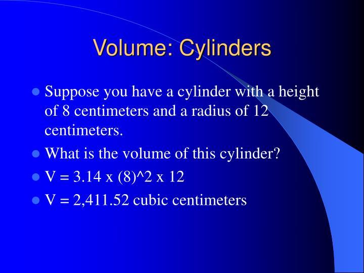 Volume: Cylinders