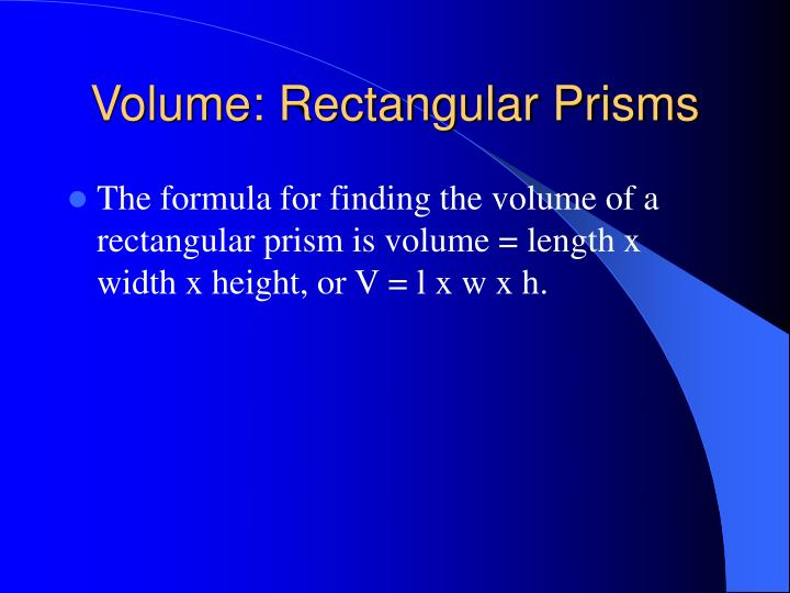 Volume: Rectangular Prisms
