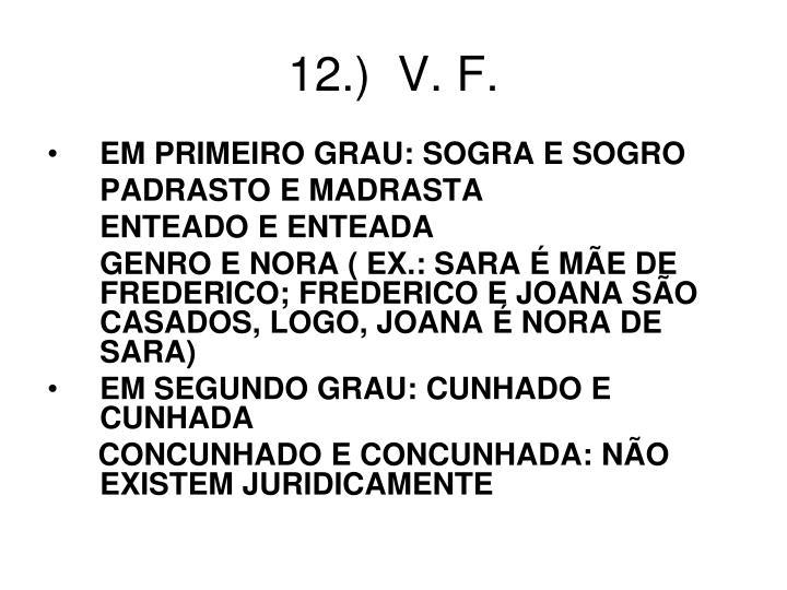 12.)  V. F.