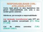 responsabilidade civil ato legislativo